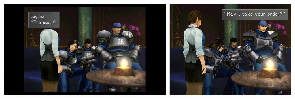 Imagens comparativas de Final Fantasy VIII Remastered e a versão original