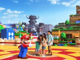 "Super Nintendo World abre com as atrações ""Super Mario Kart Ride"" e ""Yoshi's Adventure"""