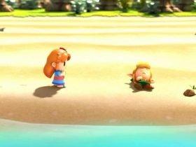 """Veja o que acontece quando se escreve """"Marin"""" na seleção de nome de The Legend of Zelda: Link's Awakening"""
