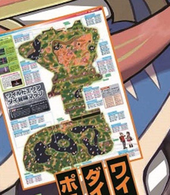 Divulgado preview de mapa da Wild Area de Pokémon Sword & Shield