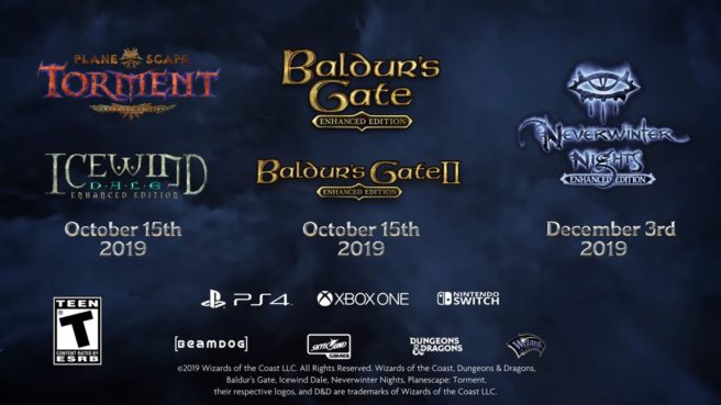 Baldur's Gate: Enhanced Edition Pack, Planescape: Torment e Icewind Dale: Enhanced Edition ganham trailer de lançamento