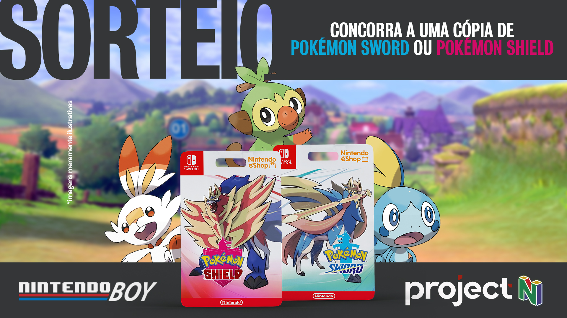 Sorteio Pokémon Sword ou Shield