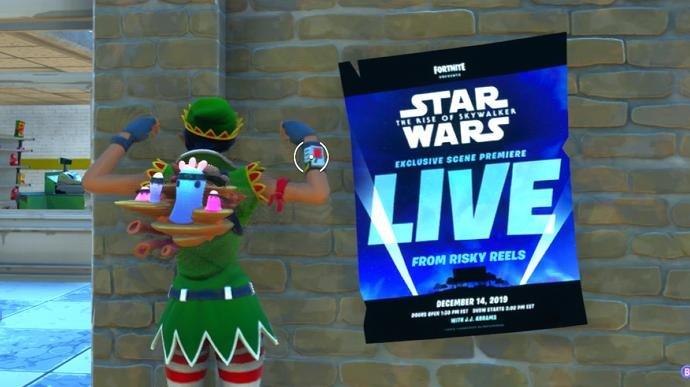 Assista a uma cena de Star Wars: A Ascensão Skywalker em evento ao vivo de Fortnite
