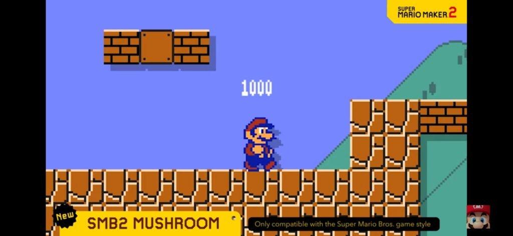 Super Mario Maker 2 - SMB2 Mushroom