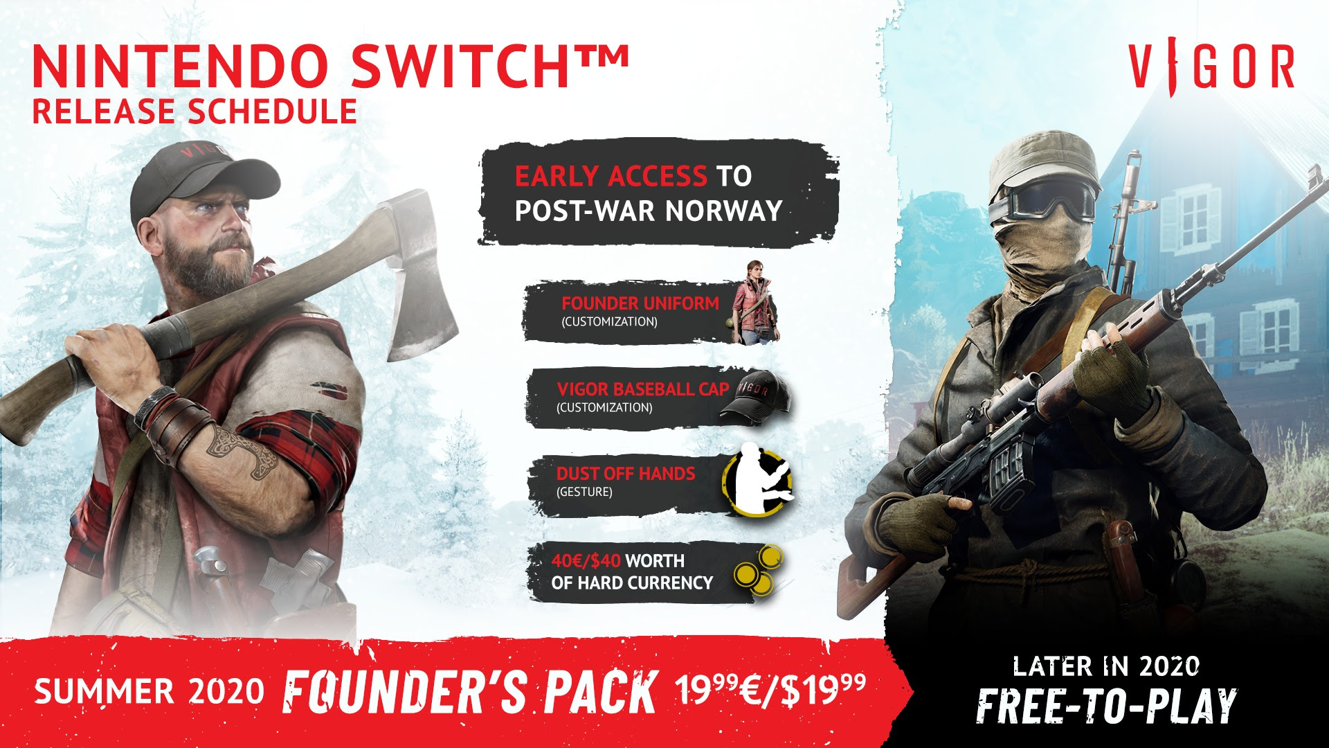 Vigor Nintendo Switch Founder's Pack