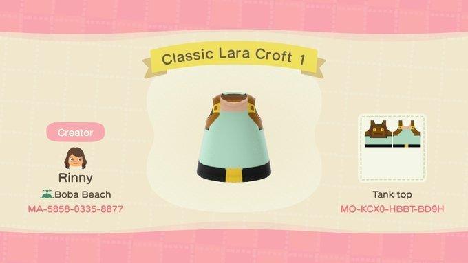 Conta oficial de Tomb Raider no Twitter compartilha designs de Animal Crossing: New Horizons