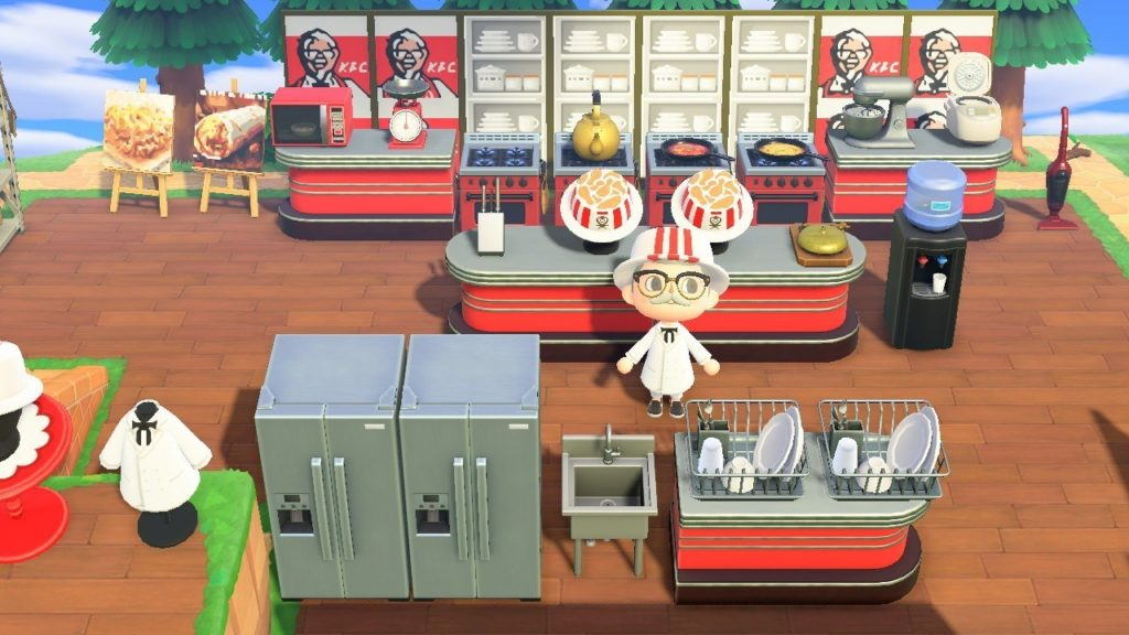 Filial oficial da KFC abre restaurante em Animal Crossing: New Horizons