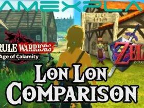 Comparando Lon Lon Ranch de Hyurle Warriors: Age of Calamity e The Legend of Zelda: Ocarina of Time