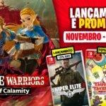 Lançamentos para Nintendo Switch de 16 a 22 de Novembro