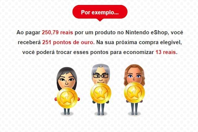 eShop brasileira: Nintendo divulga informações sobre Gold Points