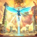 A imagem mostra Fenyx em apoteose na nova DLC Immortals Fenyx Rising: A New God
