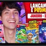Lançamentos para Nintendo Switch de 18 a 24 de Janeiro