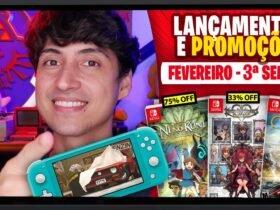 Lançamentos para Nintendo Switch de 15 a 21 de Fevereiro