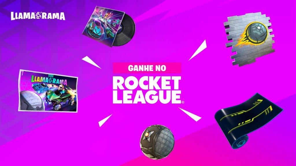 Llama-rama: novo evento crossover entre Fortnite e Rocket League começa em Março