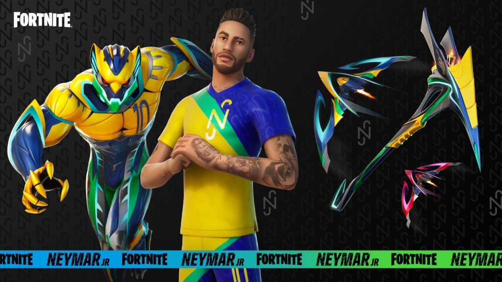 Fortnite apresenta as skins de Neymar Jr. do passe de temporada