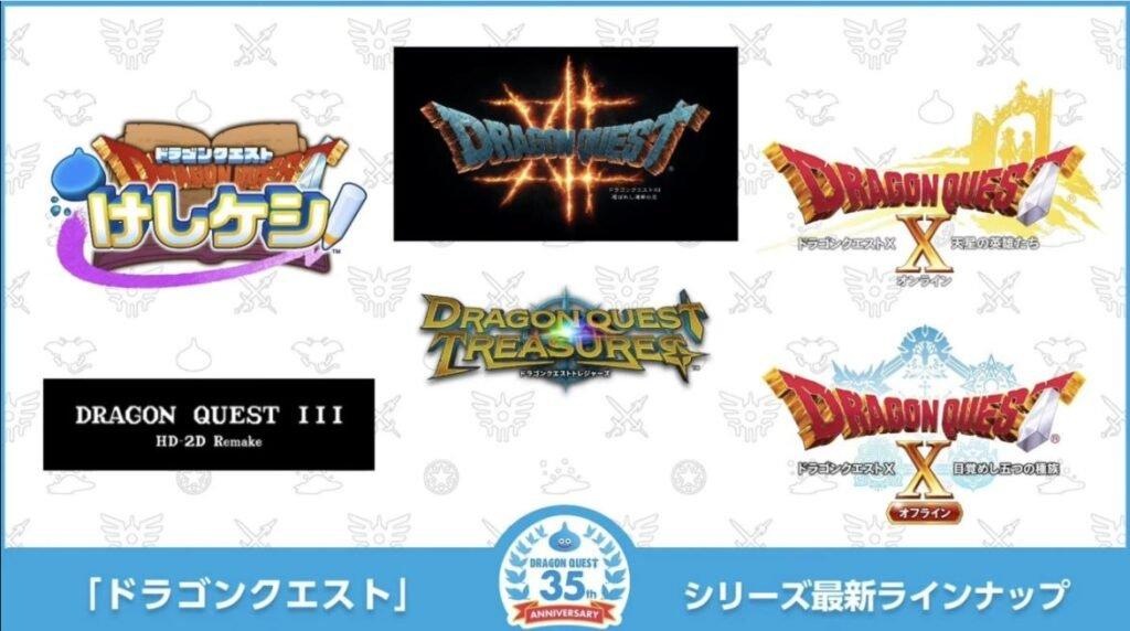 Cinco novos jogos Dragon Quest foram anunciados, incluindo Dragon Quest XII