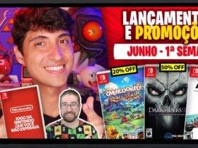 Lançamentos para Nintendo Switch de 1º a 6 de Junho