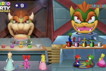 Comparativo entre os minigames de Mario Party: Superstars e os originais