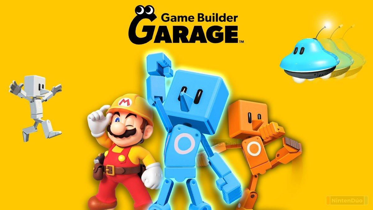 Chegou hoje ao Nintendo Switch o aplicativo-jogo: Game Builder Garagecom demo