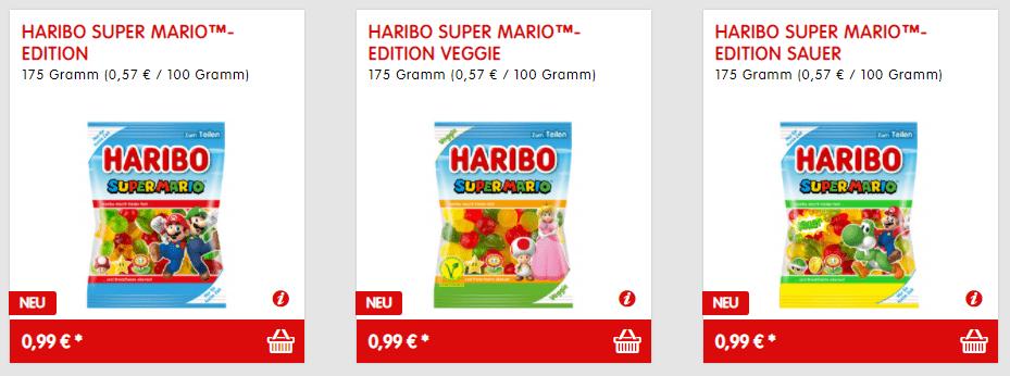 Balas Super Mario Edition à venda no site da Haribo