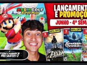 Lançamentos para Nintendo Switch de 21 a 27 de Junho