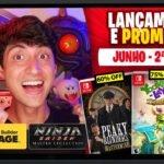 Lançamentos para Nintendo Switch de 7 a 13 de Junho