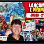 Lançamentos para Nintendo Switch de 5 a 11 de Julho