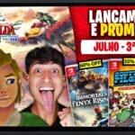 Lançamentos para Nintendo Switch de 12 a 18 de Julho