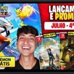 Lançamentos para Nintendo Switch de 19 a 25 de Julho