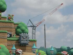 Aparentemente as construções para a parte de Donkey Kong no Super Nintendo World já começaram