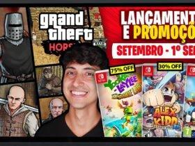 Lançamentos para Nintendo Switch de 30 de agosto a 5 de setembro