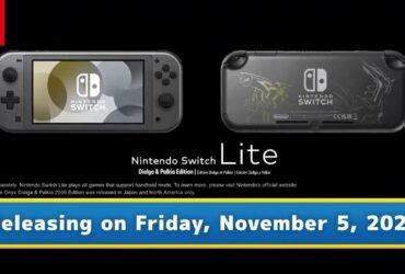 Switch Lite 'Dialga & Palkia Edition' é revelada
