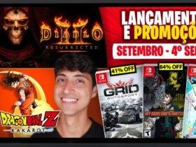 Lançamentos para Nintendo Switch de 20 a 26 de setembro