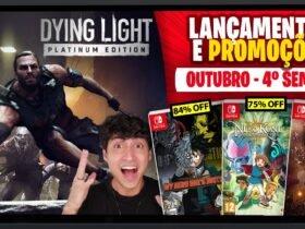 Lançamentos para Nintendo Switch de 18 a 24 de outubro